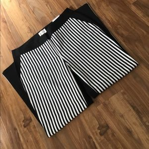 Chico's Skimmer Crop Pants Striped & solid SZ 00/4